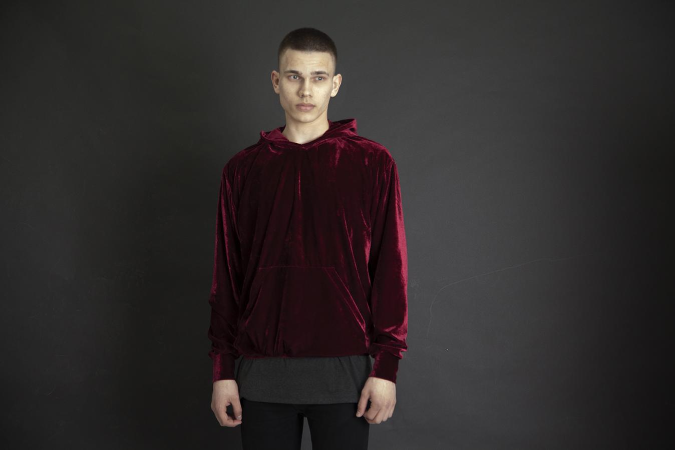 queu-queuburgundy-velvet-hoodie-lookbook
