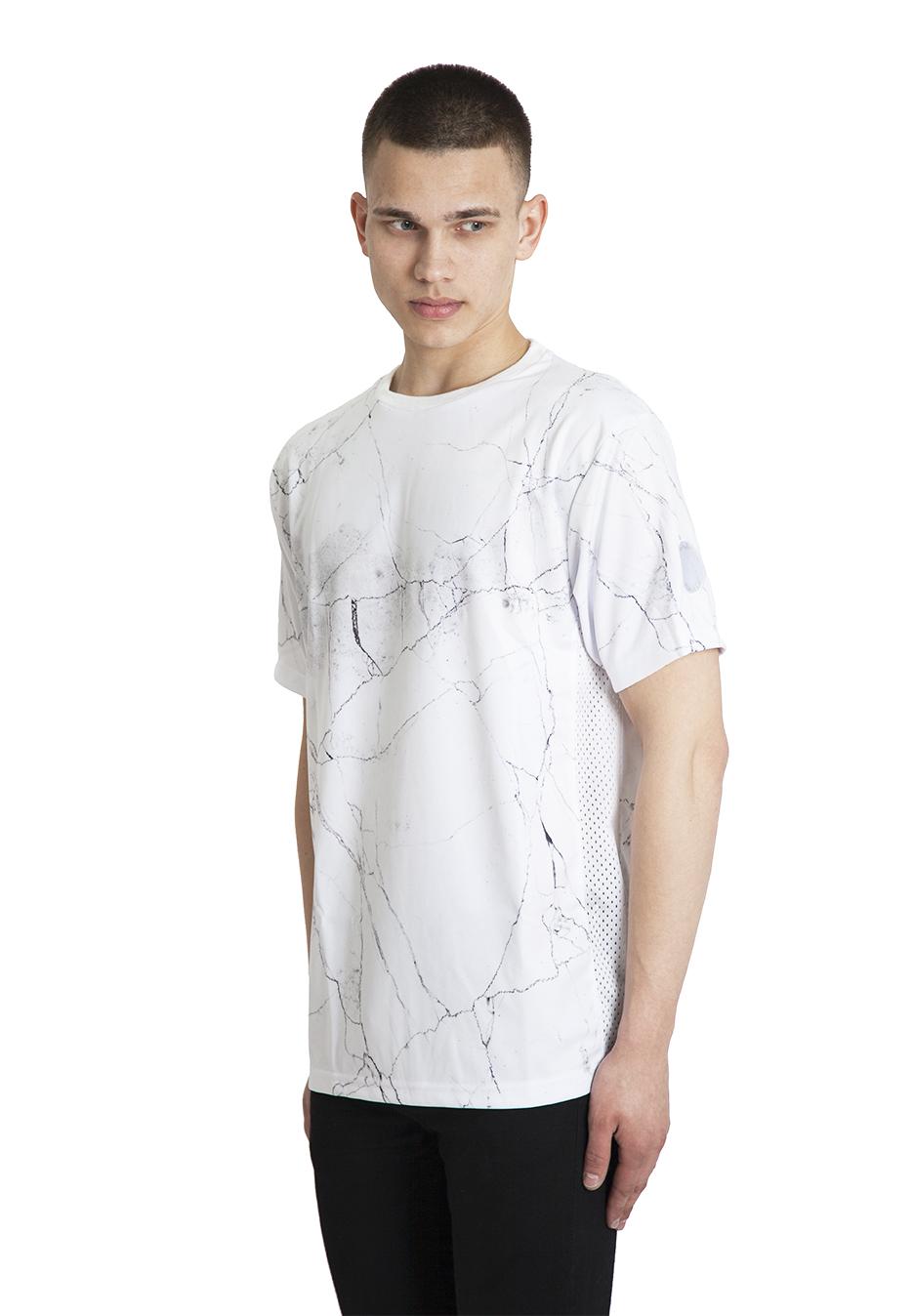 Marble Football Shirt White Queu Queu