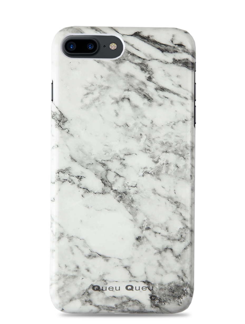 reputable site 10b72 b107c WHITE MARBLE CASE – IPHONE 8 PLUS