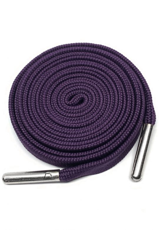 FLAT SHOELACES - PURPLE / SILVER TIP 1